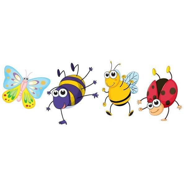 Vinilo bebé de insectos