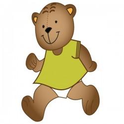 Vinilo bebé oso caminando