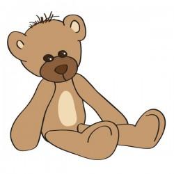 Vinilo bebé oso sentado