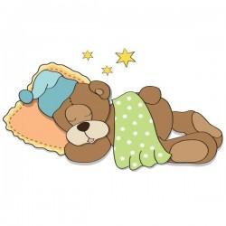 Vinilo bebé de oso durmiendo