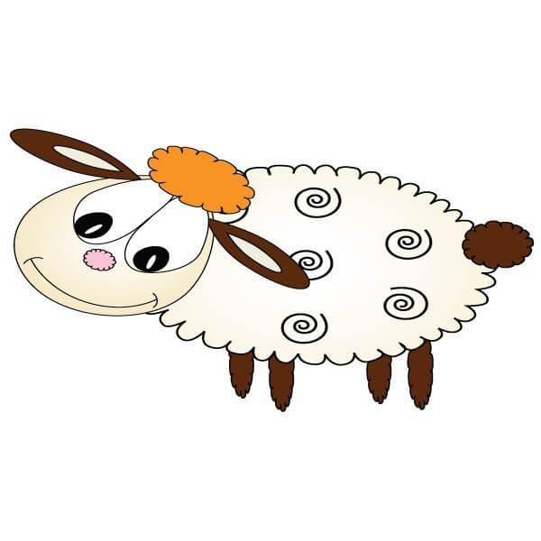 Vinilo bebé de oveja