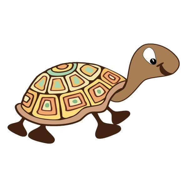 Adhesivo bebé de tortuga