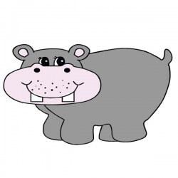 Vinilo bebé hipopótamo 1