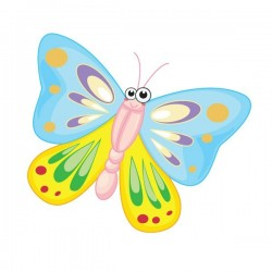 Vinilo bebé de mariposa