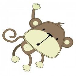 Adhesivo bebé de mono