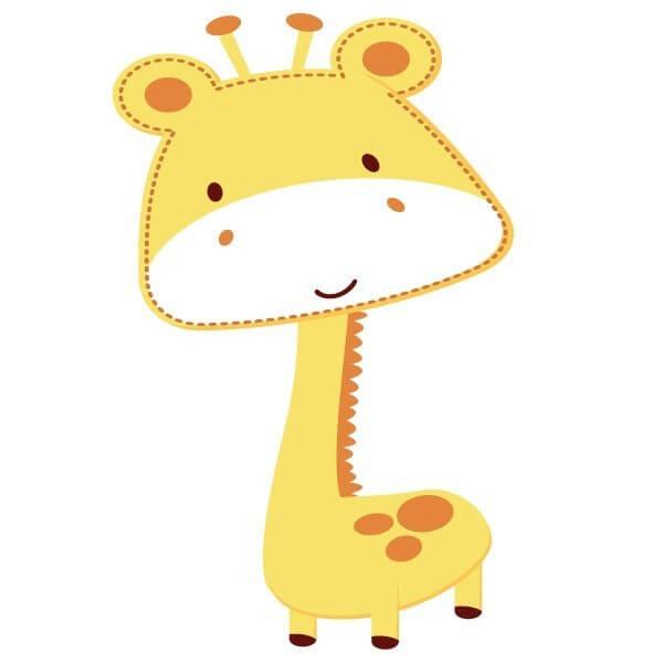 Vinilo bebé jirafa