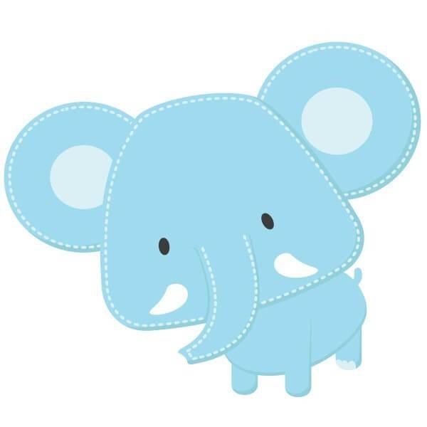 Vinilo bebé de elefante