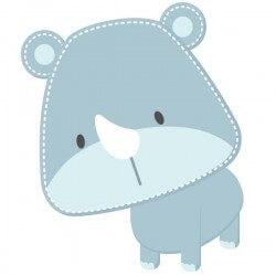 Adhesivo bebé rinoceronte