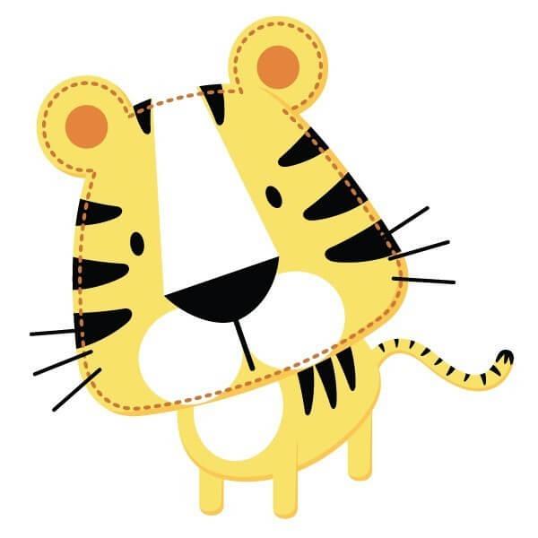 Vinilo bebé de tigre