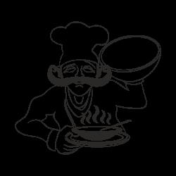 Vinilo de cocina El chef