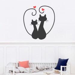 Vinilo gatos enamorados