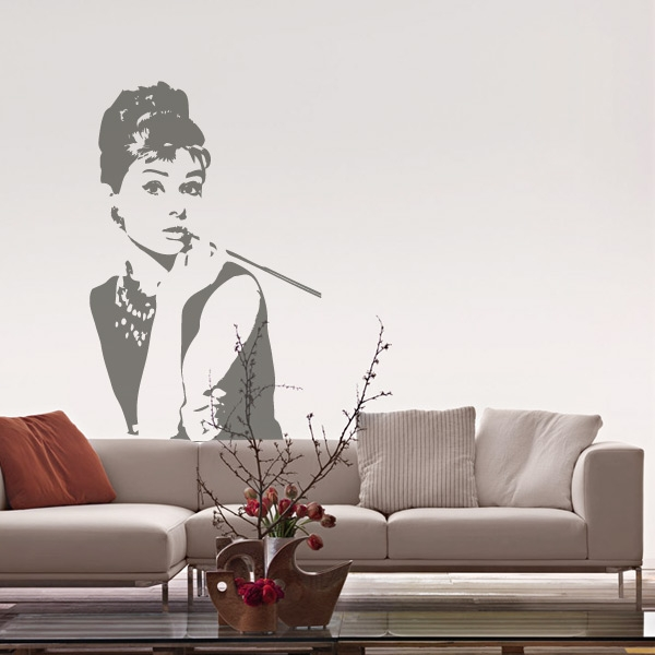Vinilo decorativo barato retro Audrey