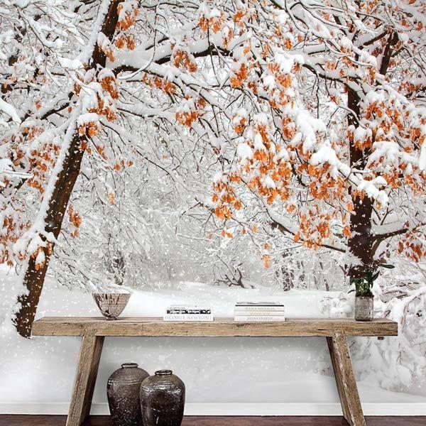 mural puerto con nieve