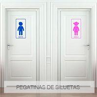 Siluetas WC para puertas
