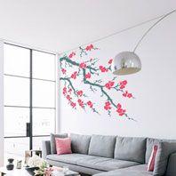 Vinilos árboles con flor
